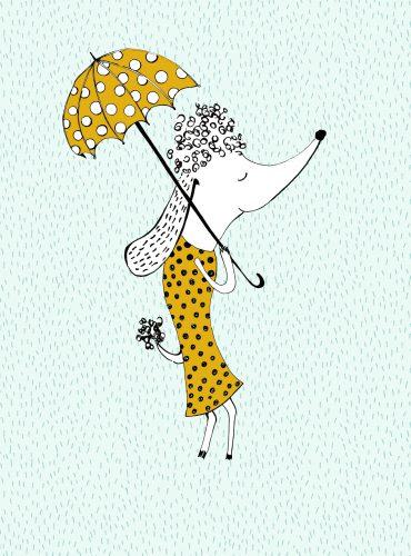 "Jersey-Panel ""Parasol lady"""