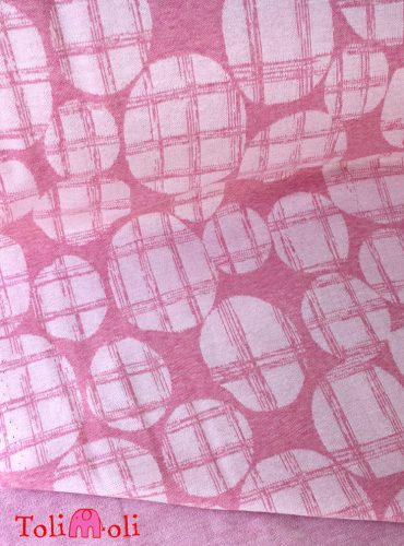 """Organic jacquard jersey """"Checked Dots"""" in rosé-pouder"""
