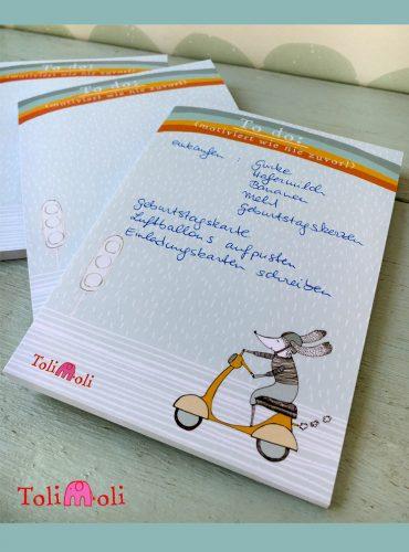"""To-do list notebook """"Vespa Love"""""""