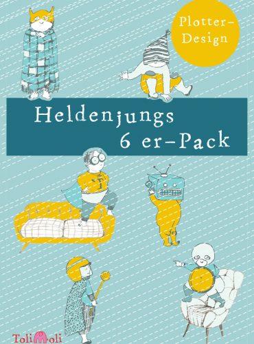"6er-Pack Plotterdateien ""Heldenjungs"" online bestellen"
