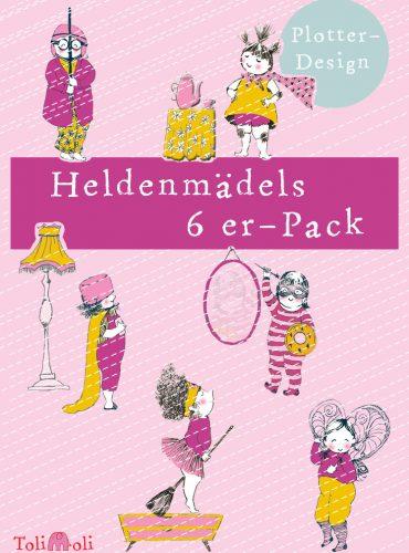 "6er-Pack Plotterdateien ""Heldenmädels"" online bestellen"