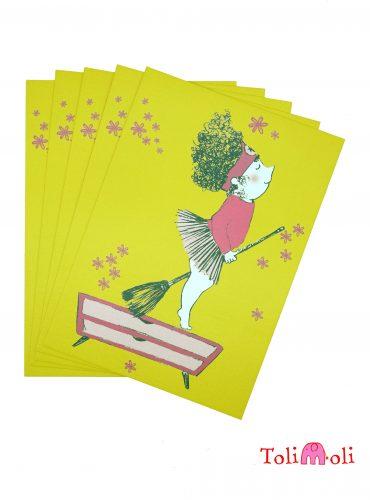"5-er-Pack Postkarte ""Berta Besenstiel"""