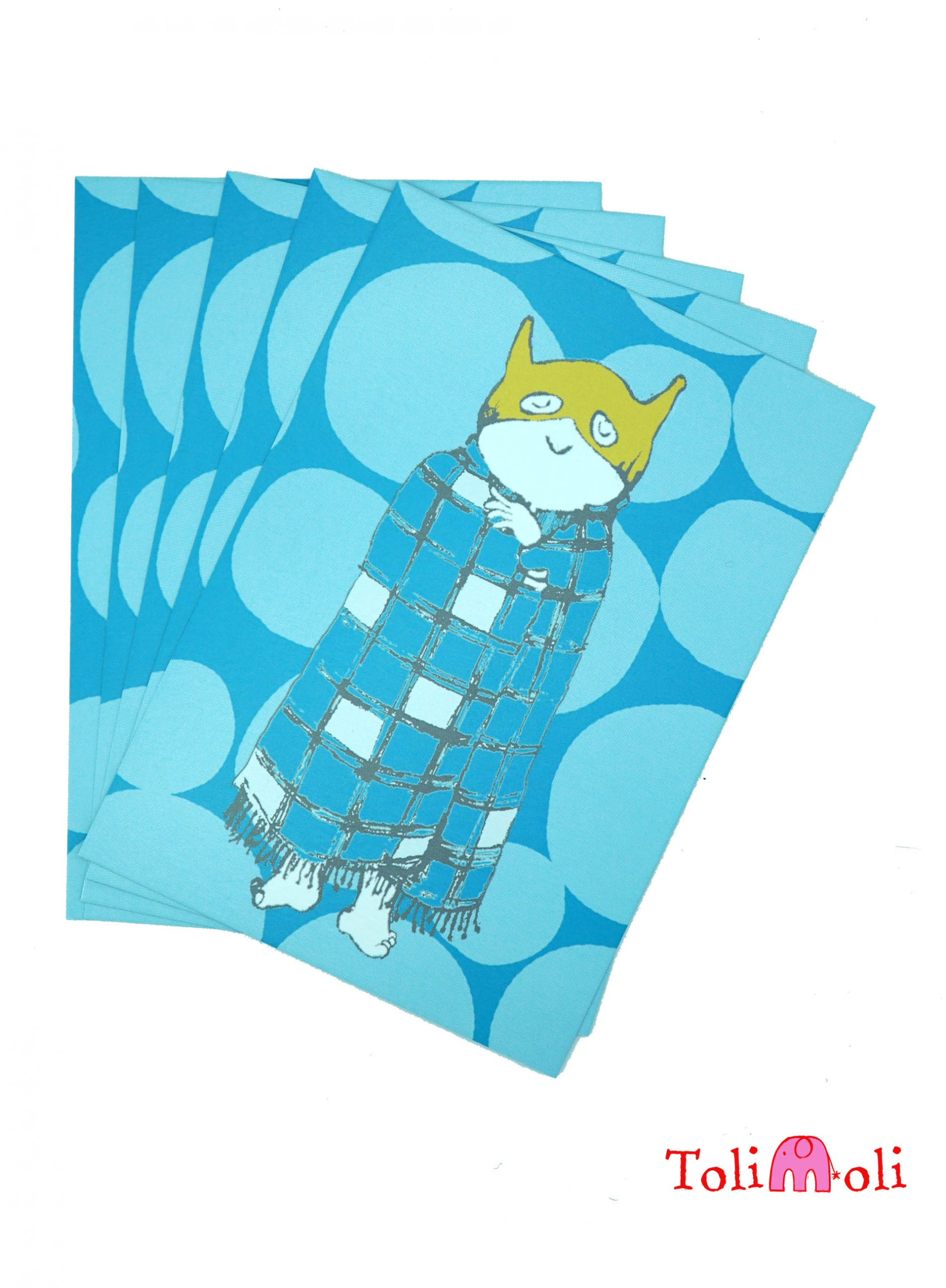 "5-er-Pack Postkarte ""Didi Decke"""