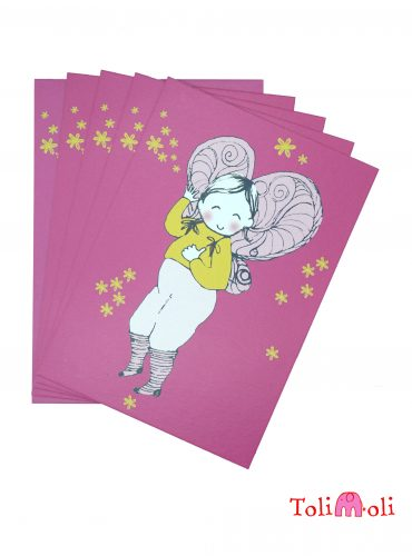 """5-er-Pack Postkarte """"Fritzi Flügel"""""""