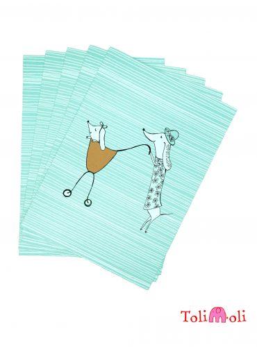 "5-er-Pack Postkarte ""Mutterglück"""