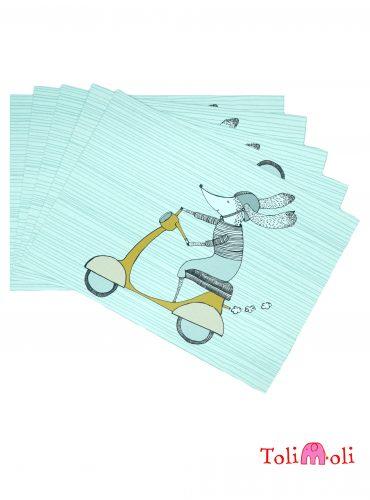 "5-er-Pack Postkarte ""Vespaliebe"""