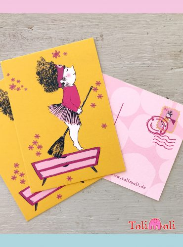 "5-pack Postcard ""Berta Broomstick"""