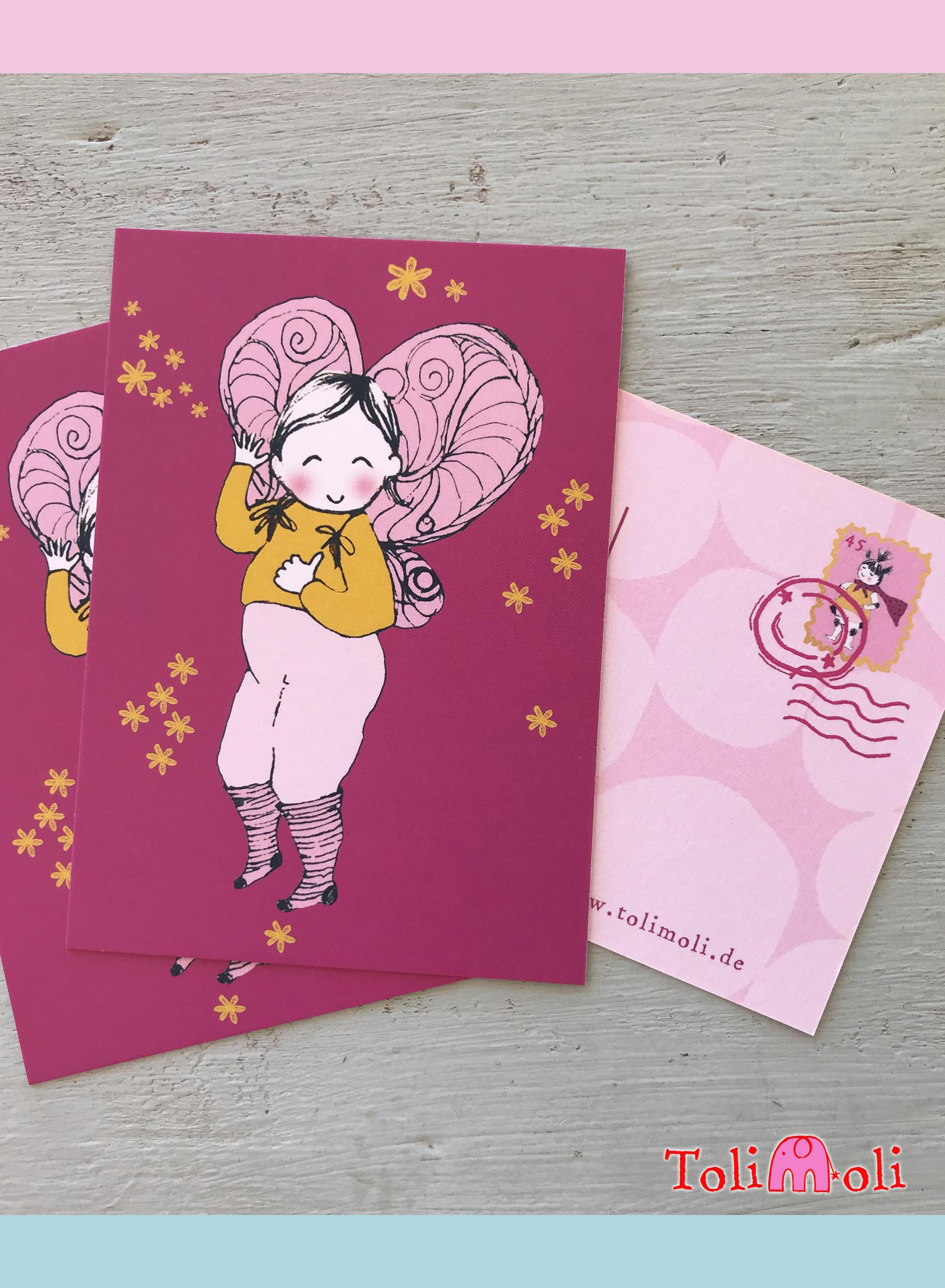 """Postkarte """"Frida Flügel"""""""