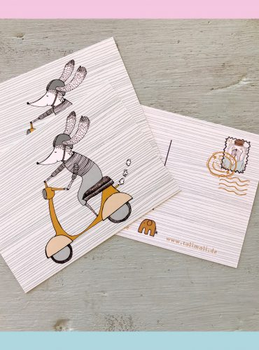 "5-pack Postkarte ""Vespa Love"""