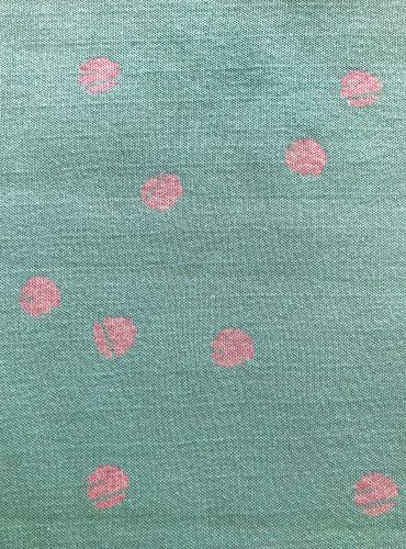 Bio-Jacquard-Jersey Dotties celeste-rosé-melange, Jacquardliebe