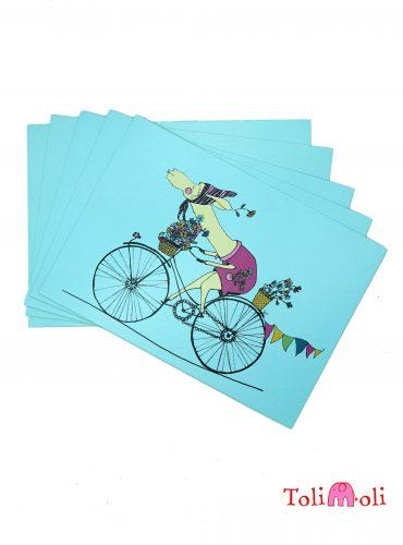 "5-er-Pack Postkarte ""Happy Flower-Lama"""