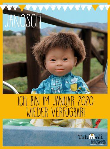 *Janosch* Puppe mit Down Syndrom