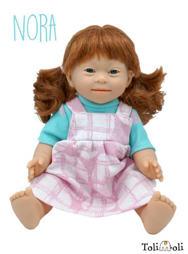 *Nora* Puppe mit Down Syndrom