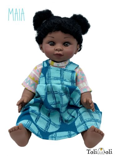 *Laura* Black doll with afro hair