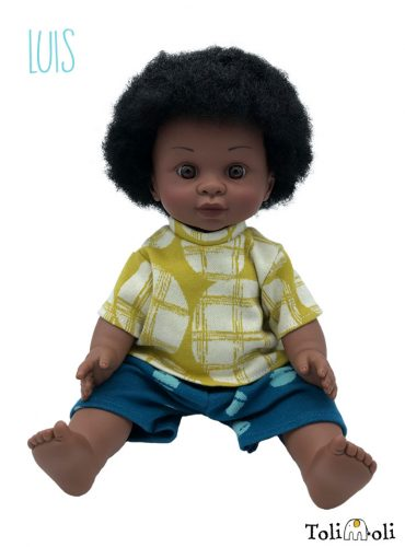 *Luis* Black doll with afro hair
